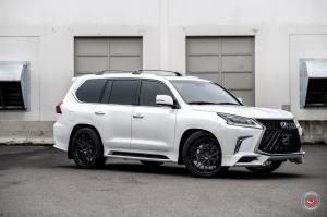2019 Lexus LX570 by 503 Motoring on Vossen Wheels (S17-07 (3-Piece)) (Eminent White Pearl)