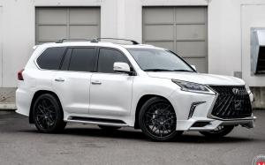 Lexus LX570 by 503 Motoring on Vossen Wheels (S17-07 (3-Piece)) (Eminent White Pearl) 2019 года