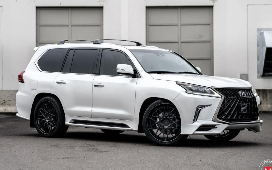 Lexus LX570 by 503 Motoring on Vossen Wheels (S17-07 (3-Piece)) (Eminent White Pearl) '2019