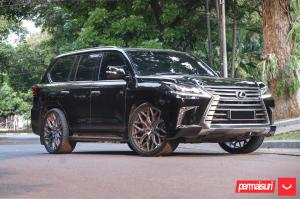 2019 Lexus LX570 by Permaisuri on Vossen Wheels (HF-2)