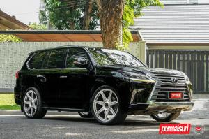 2019 Lexus LX570 by Permaisuri on Vossen Wheels (S17-11) (Black Onyx)