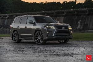 2019 Lexus LX570 on Vossen Wheels (HF-3) (Nebula Gray Pearl)