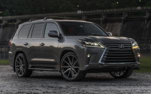 Lexus LX570 on Vossen Wheels (HF-3) (Nebula Gray Pearl) 2019 года