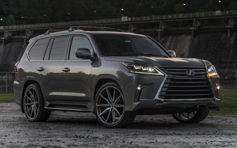 Lexus LX570 on Vossen Wheels (HF-3) (Nebula Gray Pearl) '2019