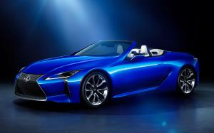 Lexus LC500 Structural Blue Convertible 2020 года (JP)