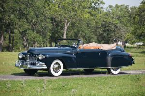 Lincoln Continental Cabriolet Black 1948 года