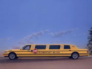 1995 Lincoln Town Car School Bus Limousine