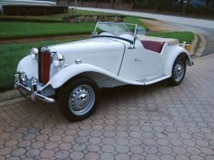 1951 MG TD Roadster White