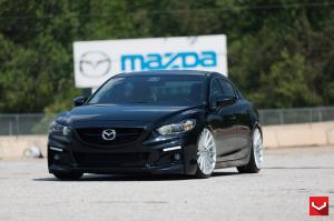 Mazda6 Jet Black on Vossen Wheels 2015 года