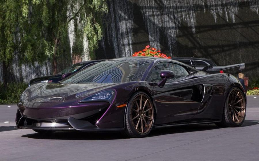McLaren 570S Cobalt Violet on ADV.1 Wheels (ADV10 TRACK SPEC)