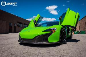 2018 McLaren 650S Grass Green Wrap by YST Auto