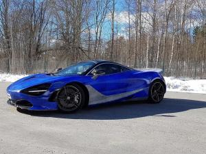 2018 McLaren 720S Marble Blue by WrapStyle
