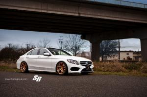 Mercedes-Benz C300 Sedan by SR Auto Group on PUR Wheels 2014 года