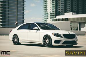 2014 Mercedes-Benz S63 AMG with Savini Wheels
