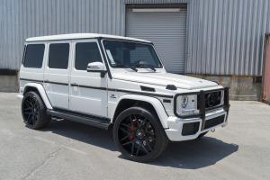 2016 Mercedes-AMG G63 in White on Forgiato Wheels (S202)