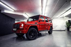 2017 Mercedes Benz G550 Metallic Cherry Red by WrapStyle