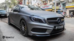 2017 Mercedes-AMG A45 Matte Grey by WrapStyle
