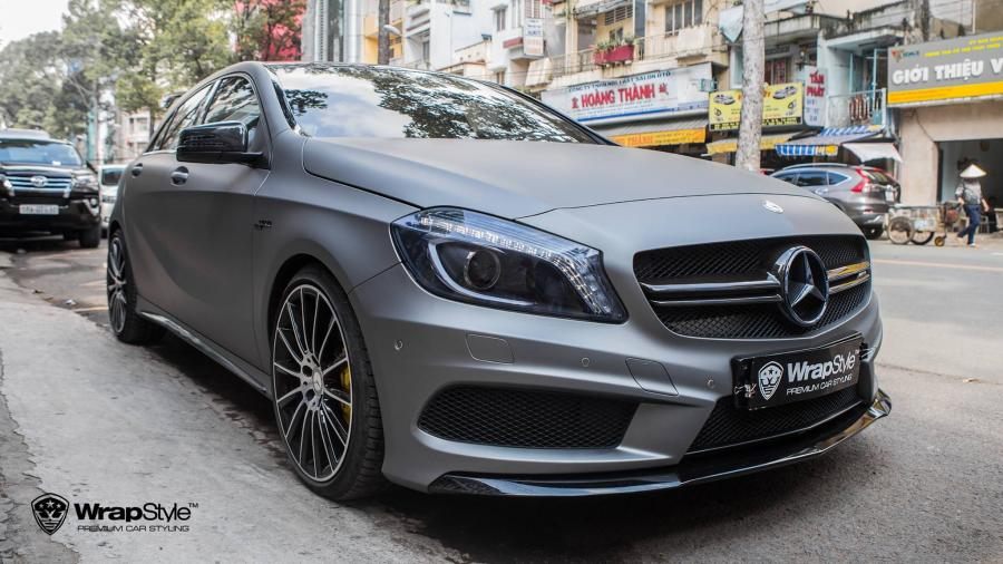 Mercedes-AMG A45 Matte Grey by WrapStyle