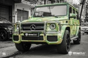 2017 Mercedes-AMG G63 Green Camo by WrapStyle
