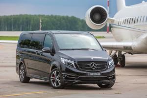 2017 Mercedes-Benz V250 BlueTEC Black Crystal in Black by Larte Design (Obsidian Black)