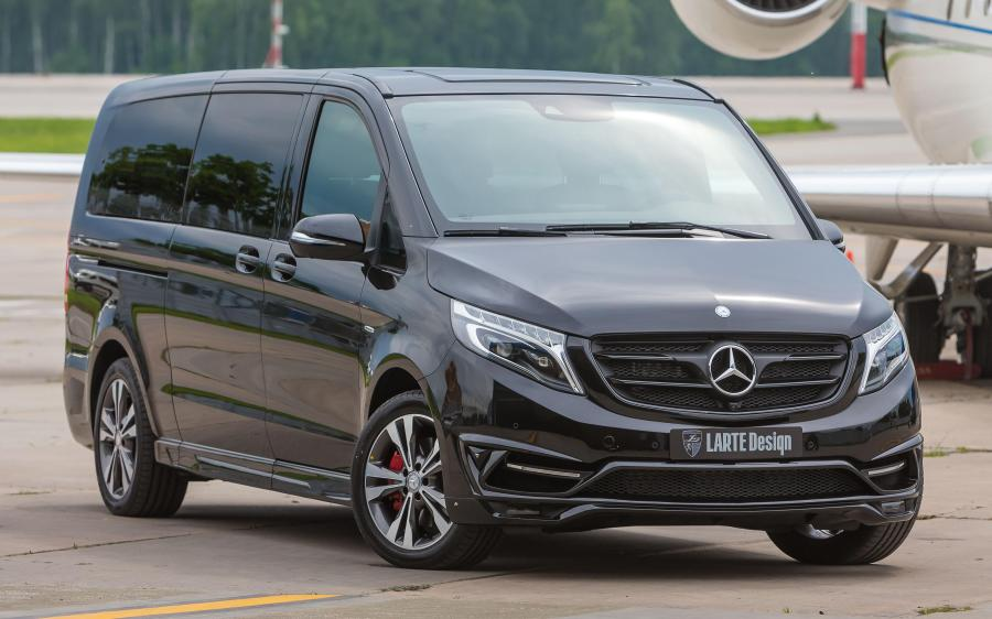 Mercedes-Benz V250 BlueTEC Black Crystal in Black by Larte Design (Obsidian Black) (W447) '2017
