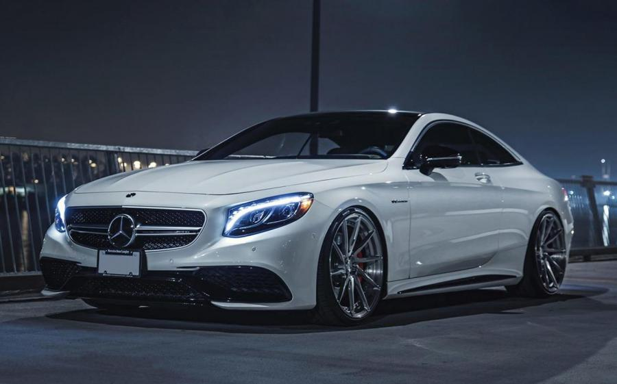 Mercedes-AMG S63 Coupe Pearl White by Exclusive Auto Spa on ADV.1 Wheels (ADV10R M.V2 CS)