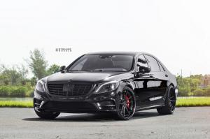 Mercedes-Benz S550 on Strasse Wheels (SV1 Deep Concave FS) 2018 года