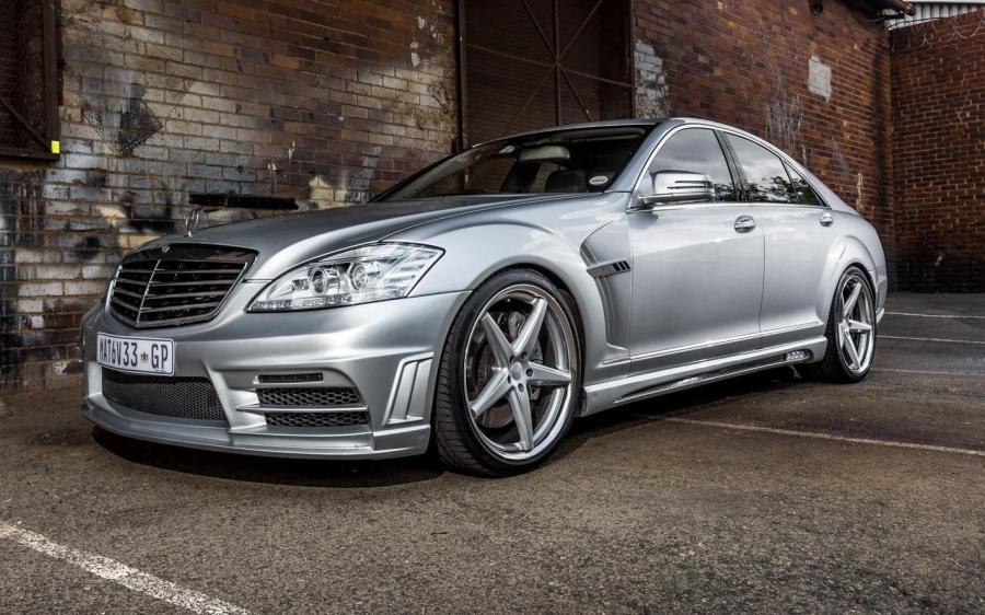 Mercedes-Benz S63 AMG Black Bison by Wald on Vossen Wheels (VWS-3)