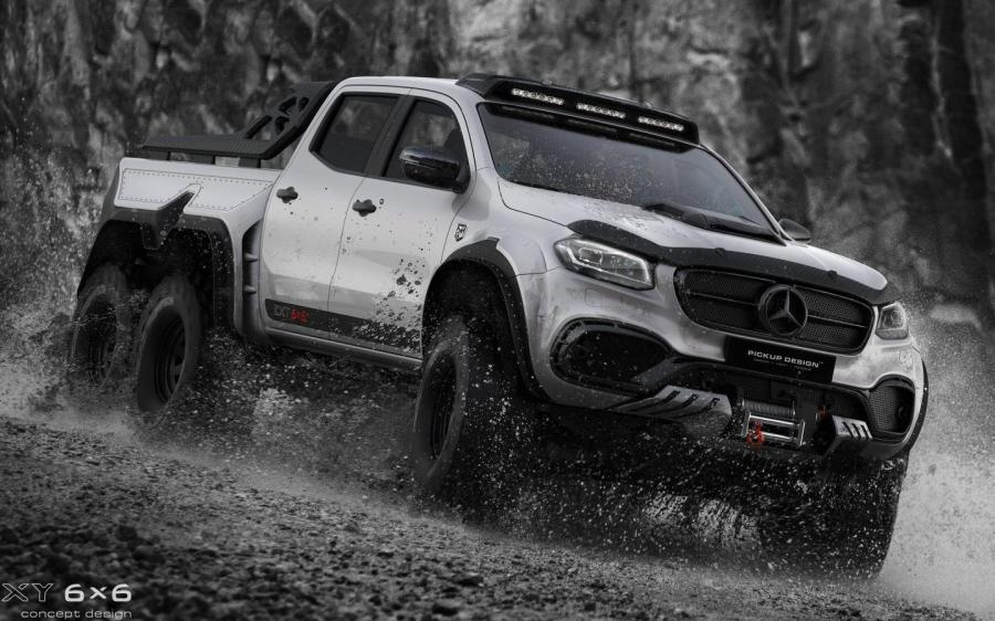Mercedes-Benz X-Class EXY 6x6 by Pickup Design