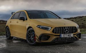 Mercedes-AMG A45 S 4Matic+ Aerodynamic Package 2019 года (UK)
