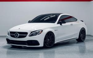 Mercedes-AMG C63 Coupe Matte White on Vossen Wheels (CV10) 2019 года