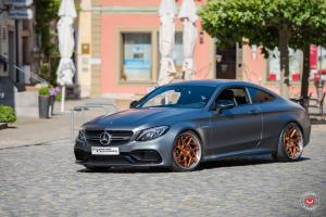 2019 Mercedes-AMG C63 Coupe by Extreme Customs on Vossen Wheels (CG-209T (3-Piece))