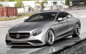 Mercedes-AMG S63 Coupe Matte Silver on ADV.1 Wheels (ADV15 TRACK SPEC CS) 2019 года
