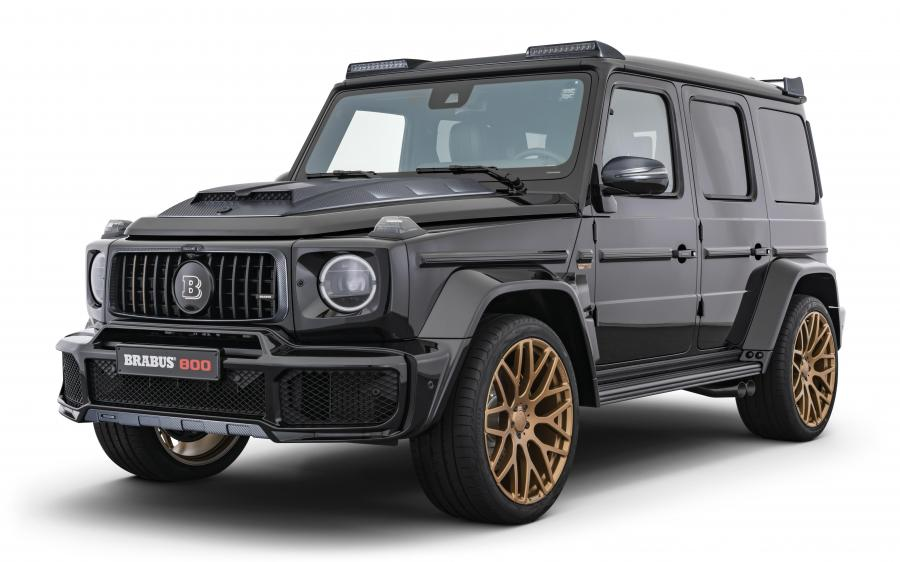 2020 Mercedes-AMG G63 800 Black & Gold by Brabus