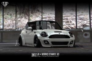 Mini Cooper by Liberty Walk 2015 года