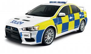 Mitsubishi Lancer Evolution X UK Police Car 2009 года