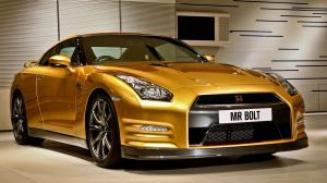 2012 Nissan GT-R Gold by Usain Bolt