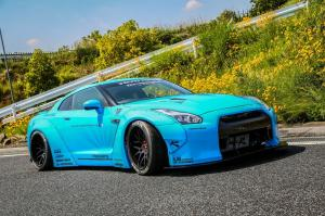 Nissan GT-R by Liberty Walk on Forgiato Wheels 2014 года