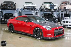 2016 Nissan GT-R Red and Black by 503 Motoring on ADV.1 Wheels (ADV5 TRACK SPEC CS)