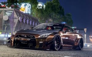 Nissan GT-R by Liberty Walk on Forgiato Wheels (Maglia-ECL) 2018 года