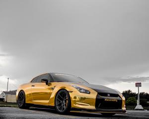 2019 Nissan GT-R Gold Chrome on ADV.1 Wheels (ADV5.0 M.V2 SL)