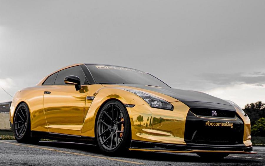 Nissan GT-R Gold Chrome on ADV.1 Wheels (ADV5.0 M.V2 SL) '2019