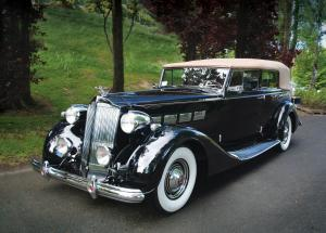 1937 Packard Super Eight Model 1502 Convertible Sedan