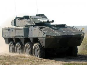 Patria AMV 8x8 with AMOS 2004 года