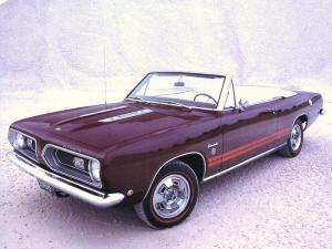 Plymouth Barracuda Formula S Convertible 1968 года