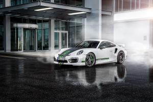 Porsche 911 Turbo White by TechArt 2014 года