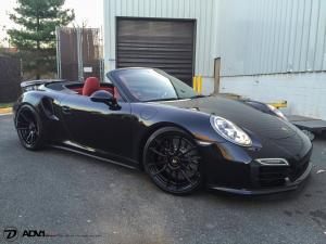 Porsche 911 Turbo S Cabriolet on ADV.1 Wheels (ADV6.2MV2CS) 2015 года