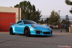 Porsche 911 GT3 in Pearl Bahama Blue by Impressive Wrap 2016 года