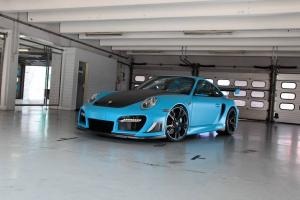Porsche 911 Turbo GT Street R in Blue by TechArt 2016 года