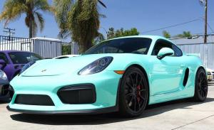 Porsche Cayman GT4 Mint Green by BBI Autosport '2016